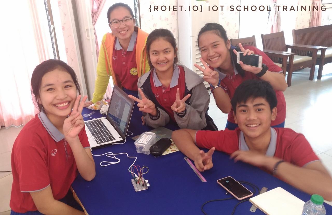 5-6 ก.พ. 61 อบรมเชิงปฏิบัติการ ระบบสมองกล และInternet of Things (IoT) ให้กับน้องๆ ชั้น ม.4-5 โรงเรียนสตรีศึกษา ร้อยเอ็ด จำนวน 72 คน