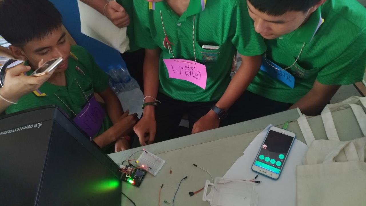 2 พ.ค. 61 อบรม Coding สมองกลพร้อมด้วยไอโอที IoT ให้กับน้องๆ โรงเรียนศรีเมืองวิทยาคม จ.อุบลราชธานี จำนวน 60 คน
