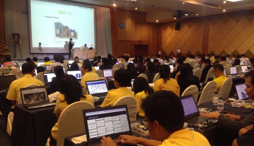 614181009-การฝึกอบรมปฏิบัติการ ระบบสมองกลฝังตัว ด้วยไอโอที (IoT) Smart Farm เพื่อส่งเสริมสมรรถนะครูในการจัดกิจกรรมการเรียนการสอนสะเต็มศึกษา (STEM Education) ตอบสนอง Thailand 4.0